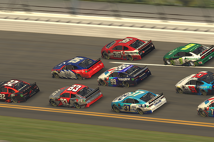 NASCAR drivers racing on iRacing after canceled events
